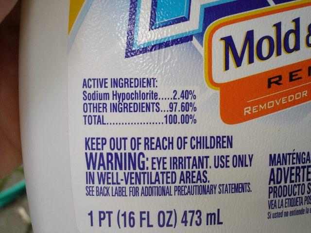 Similiar Clorox Bleach Label And Ingredients Keywords